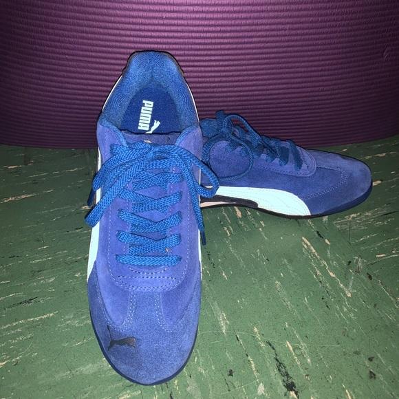 Suede Sneakers Royal Blue Sz 55y | Poshmark